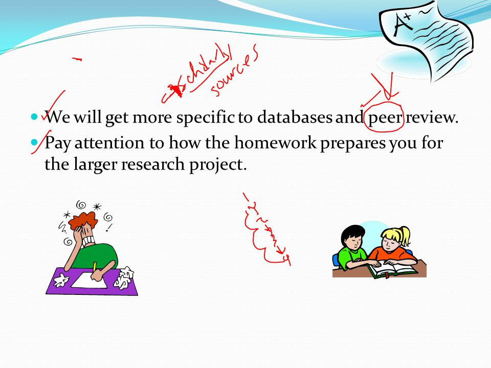 We will get more specific to databases and peer review.