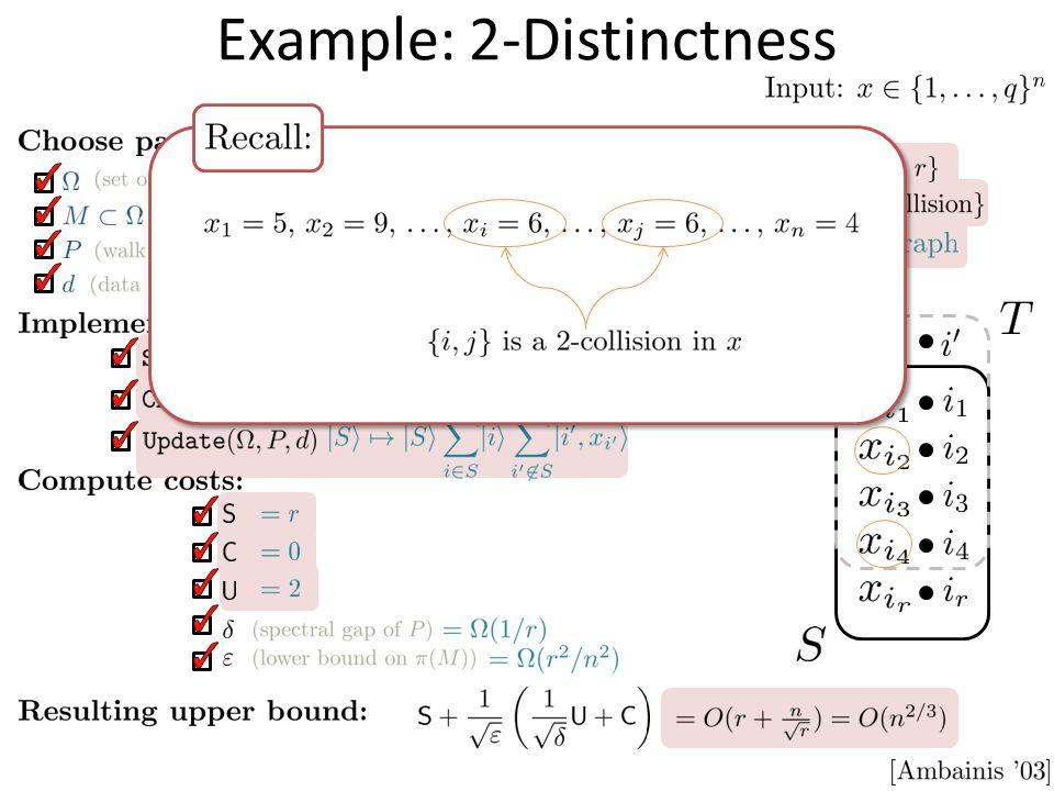 Example: 2-Distinctness