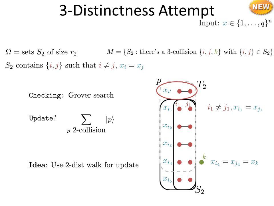 3-Distinctness Attempt
