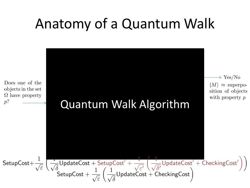 Anatomy of a Quantum Walk Setup Update Checking Quantum Walk Algorithm