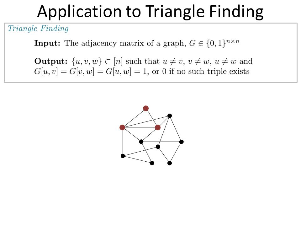 Application to Triangle Finding