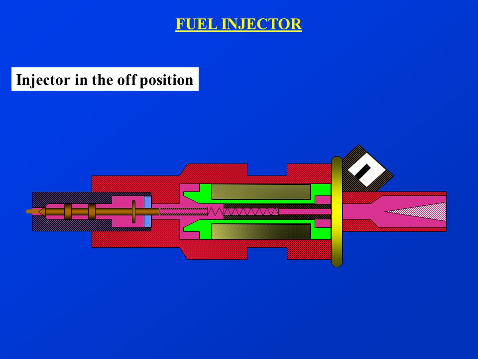 FUEL INJECTOR Injector in the off position