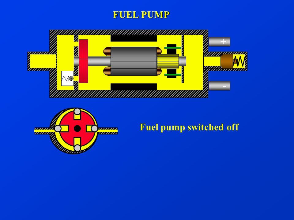 + - FUEL PUMP Fuel pump switched off