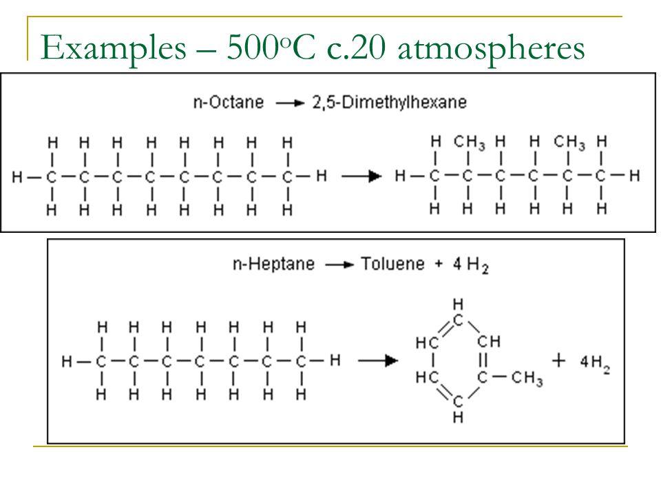 Examples – 500 o C c.20 atmospheres