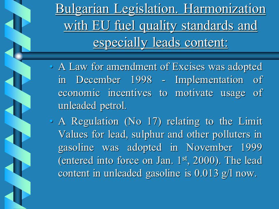 Bulgarian Legislation.