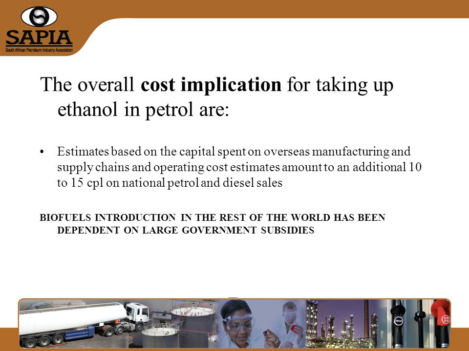 Way forward Sapia strongly recommend that: –That Expert Working Groups be set up to address key issues, involvement of all relevant stakeholders, including Oil Industry is critical.