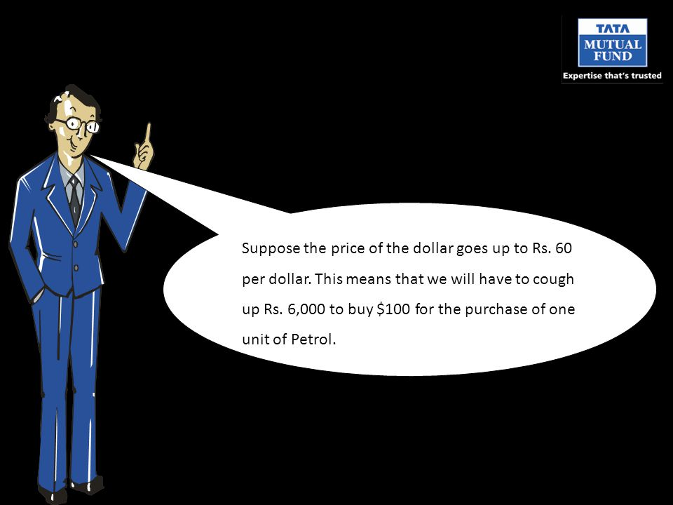 Suppose the price of the dollar goes up to Rs. 60 per dollar.