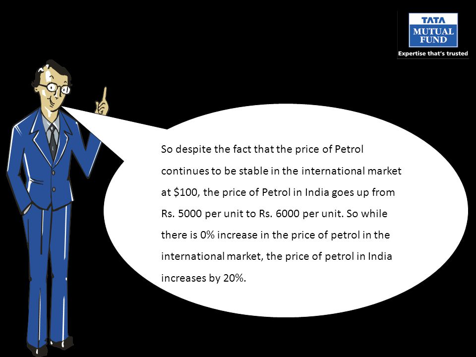 So despite the fact that the price of Petrol continues to be stable in the international market at $100, the price of Petrol in India goes up from Rs.