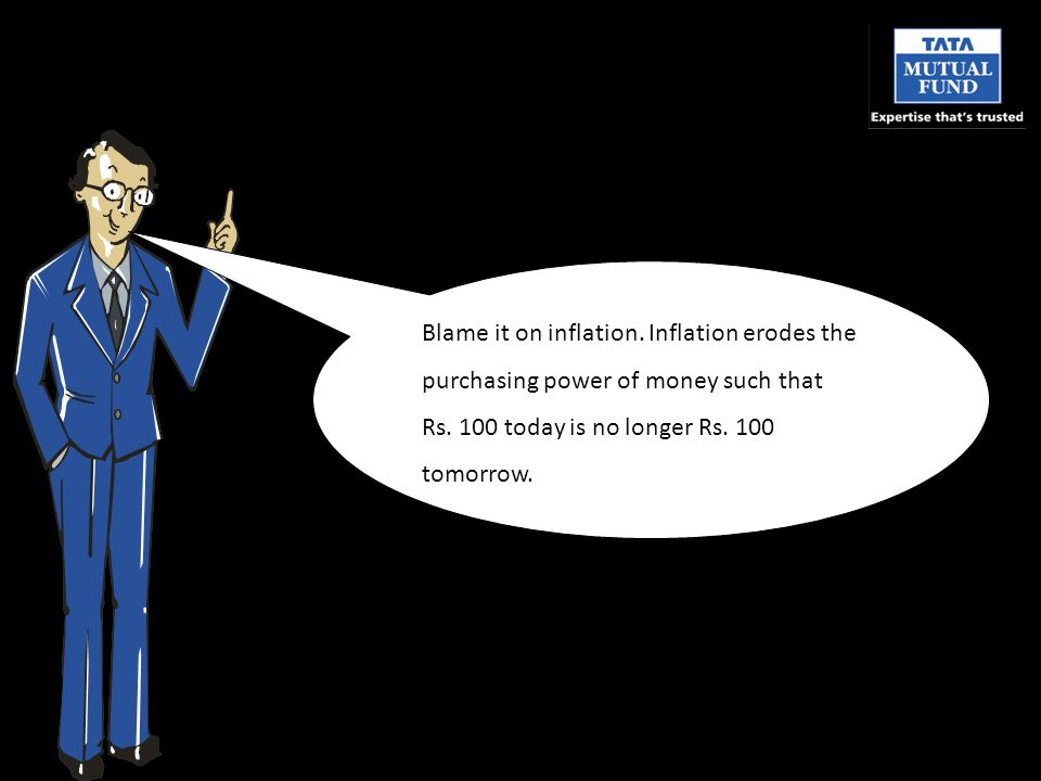 Blame it on inflation. Inflation erodes the purchasing power of money such that Rs.