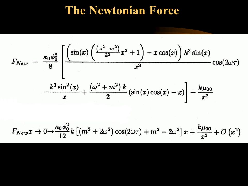 The Newtonian Force