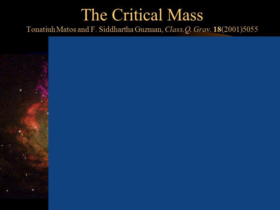 The Critical Mass Tonatiuh Matos and F. Siddhartha Guzman, Class.Q.
