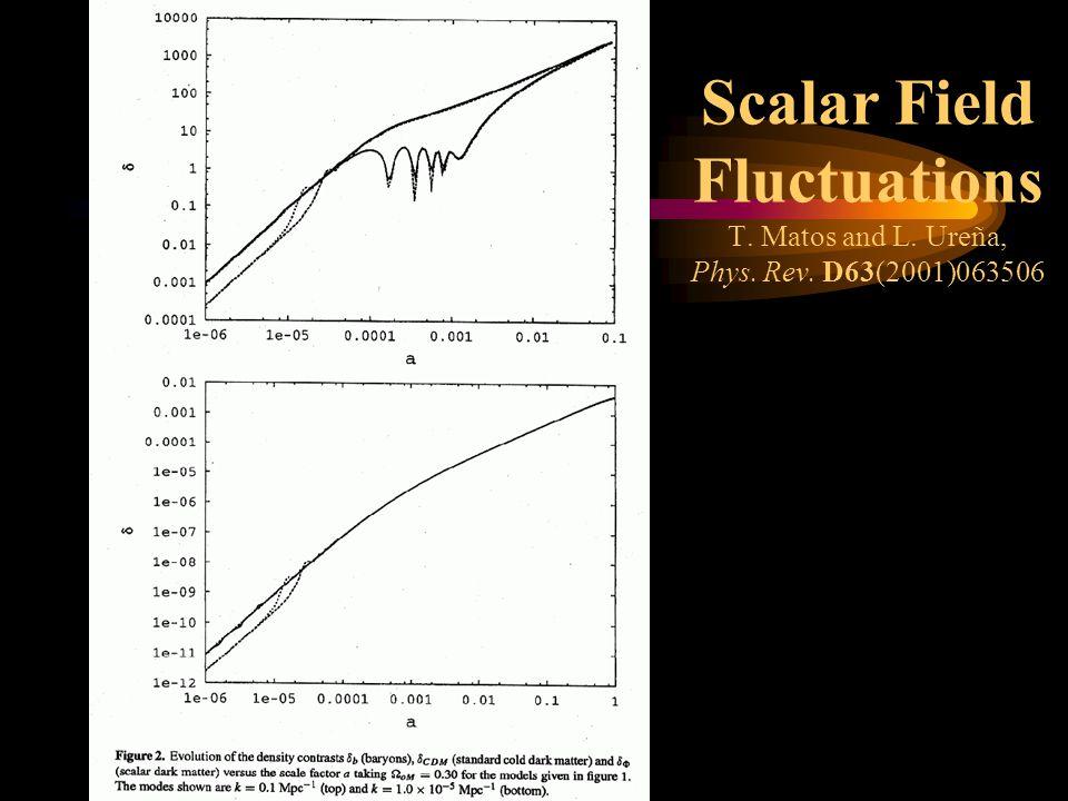 Scalar Field Fluctuations T. Matos and L. Ureña, Phys. Rev. D63(2001)063506