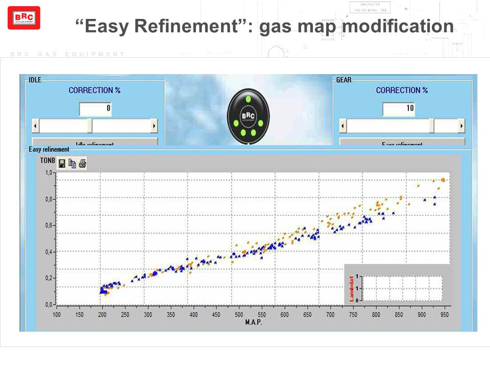"BRC GAS EQUIPMENT ""Easy Refinement"": gas map modification"
