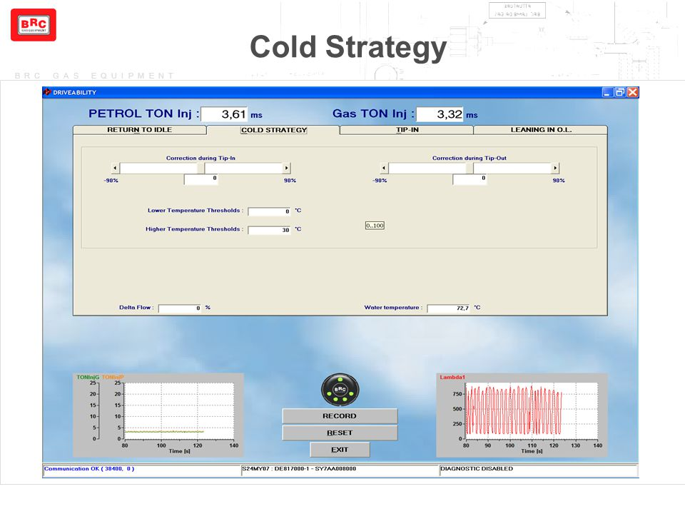 BRC GAS EQUIPMENT Cold Strategy