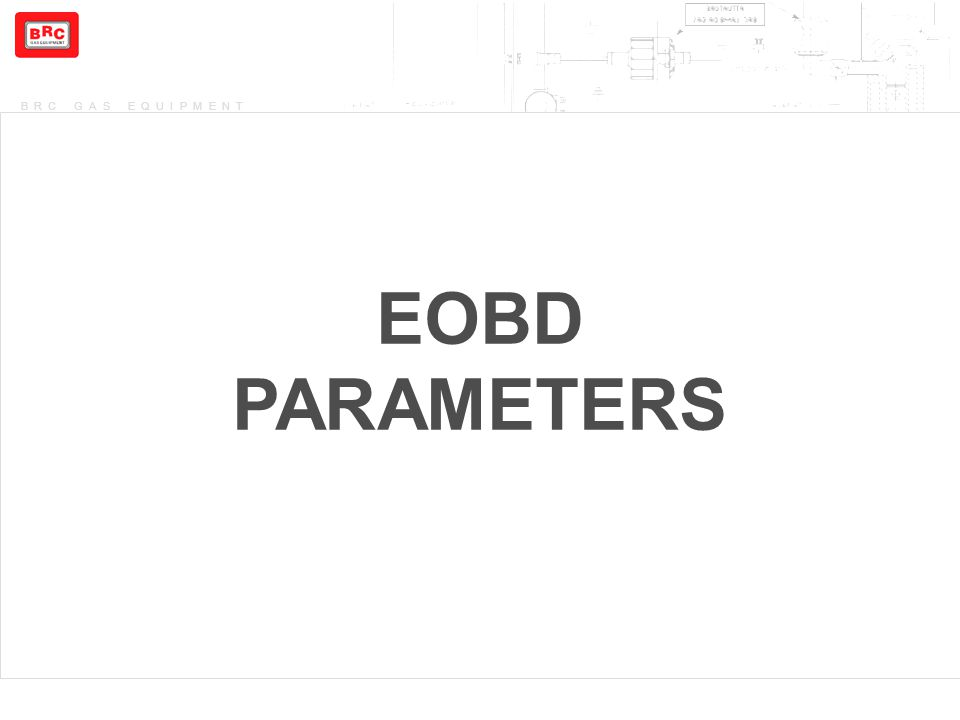 BRC GAS EQUIPMENT EOBD PARAMETERS