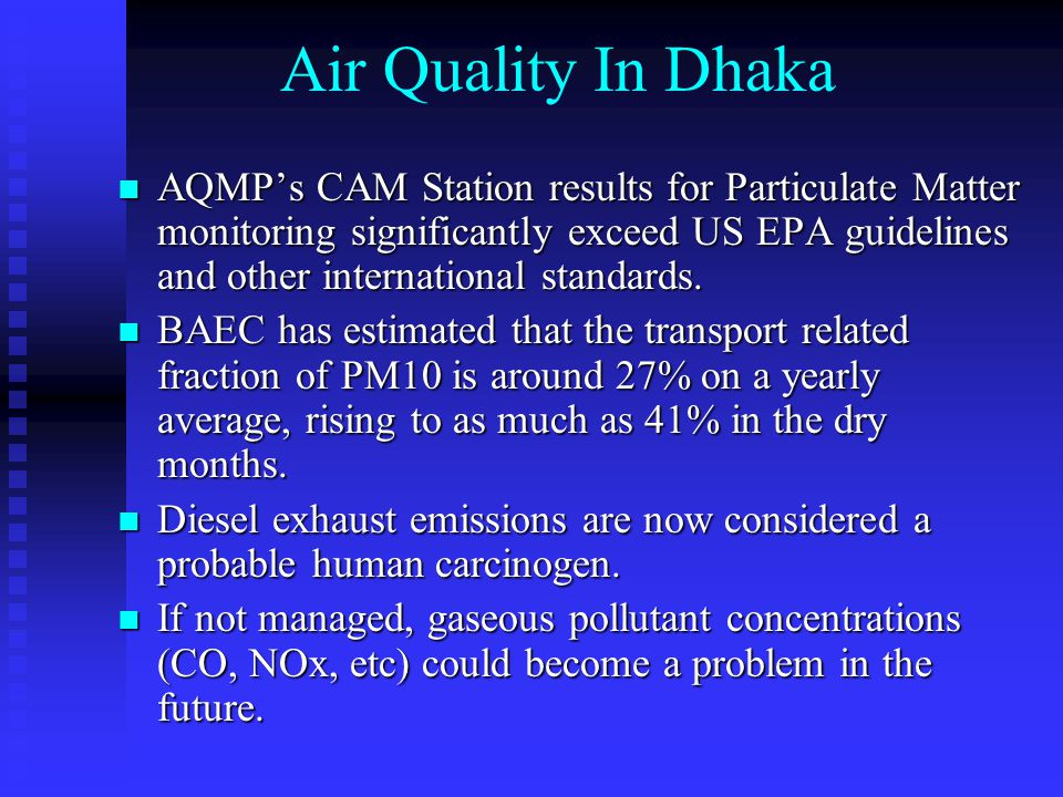 Contribution of Vehicle Types to Emissions in Dhaka