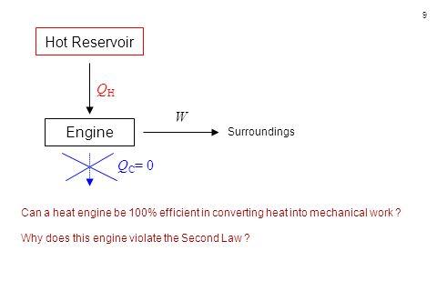 40 Solution Identify / Setup c p = 1.005 kJ.kg -1.K -1 c V = 0.718 kJ.kg -1.K -1 V 1 / V 2 = 8 p 1 = 97.5  10 3 Pa T 1 = 50 o C = 323 K Q H = 950 kJ.kg -1 T H = T 3 = .