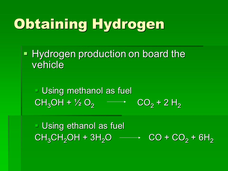 Production cost of hydrogen