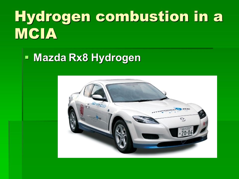 Hydrogen combustion in a MCIA  BMW 7 Series Hydrogen