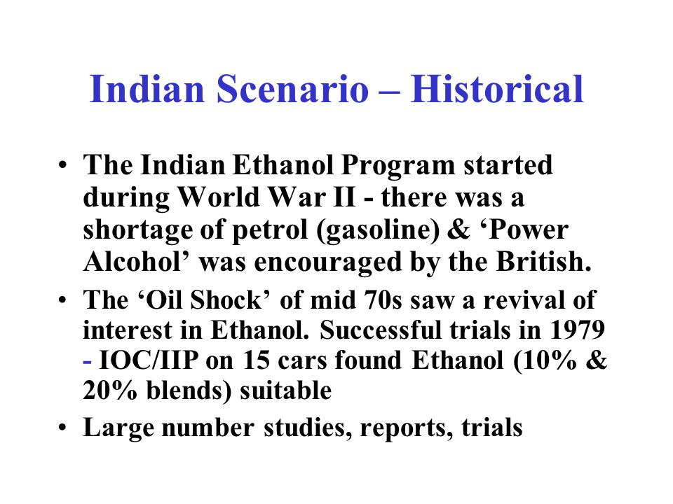 Indian Ethanol Scenario - Opportunities & Challenges by Jai Uppal, Consultant B.Sc.