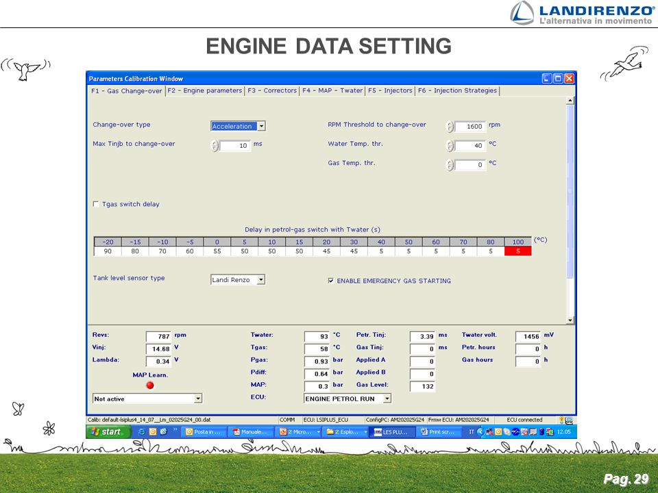 Pag. 29 ENGINE DATA SETTING