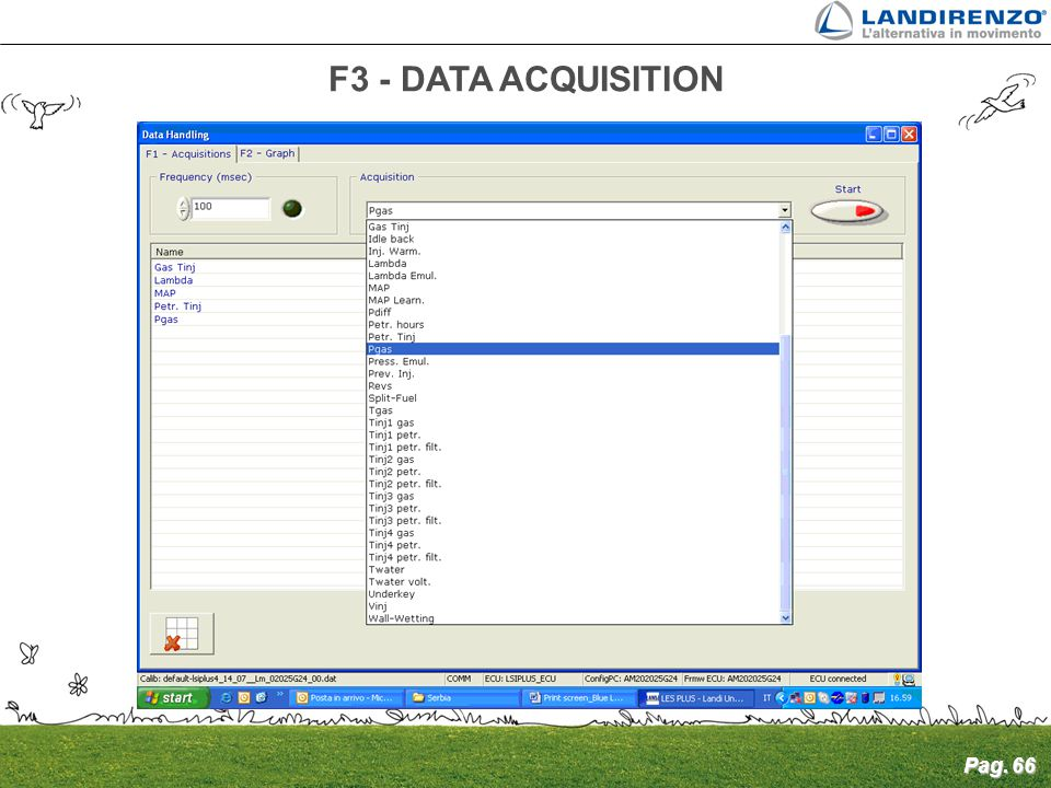 Pag. 66 F3 - DATA ACQUISITION