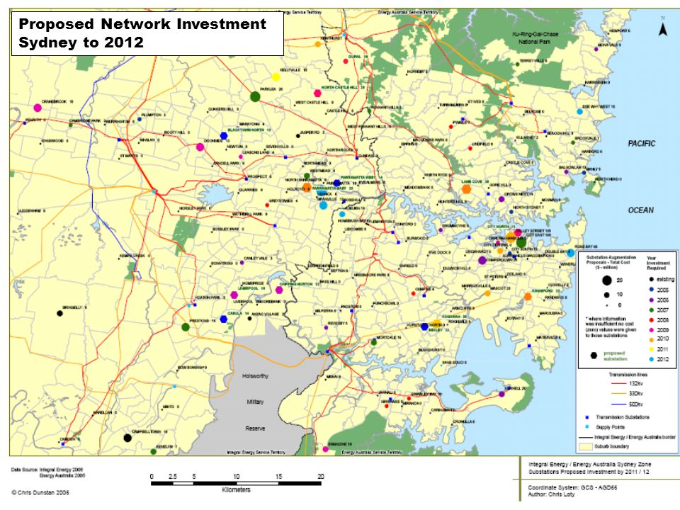 Proposed Network Investment Sydney to 2012