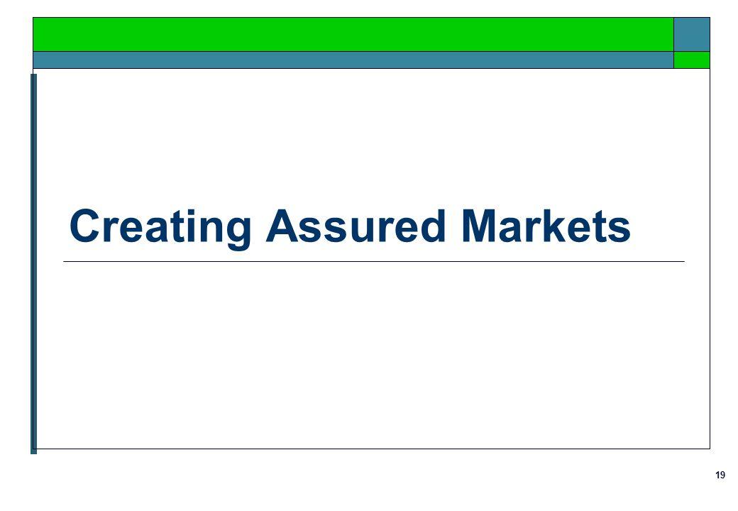 19 Creating Assured Markets