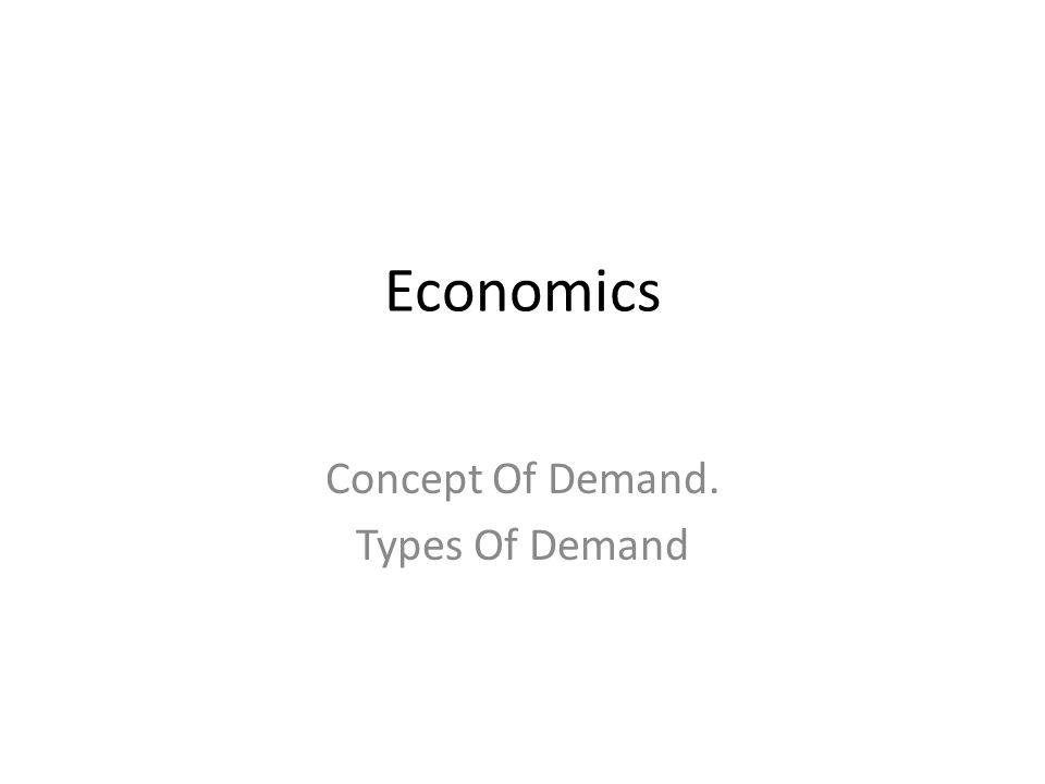 Economics Concept Of Demand. Types Of Demand