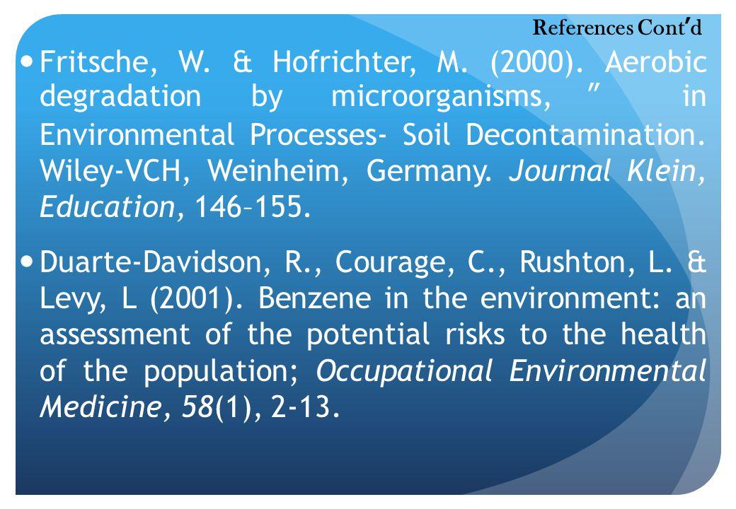 Fritsche, W. & Hofrichter, M. (2000).