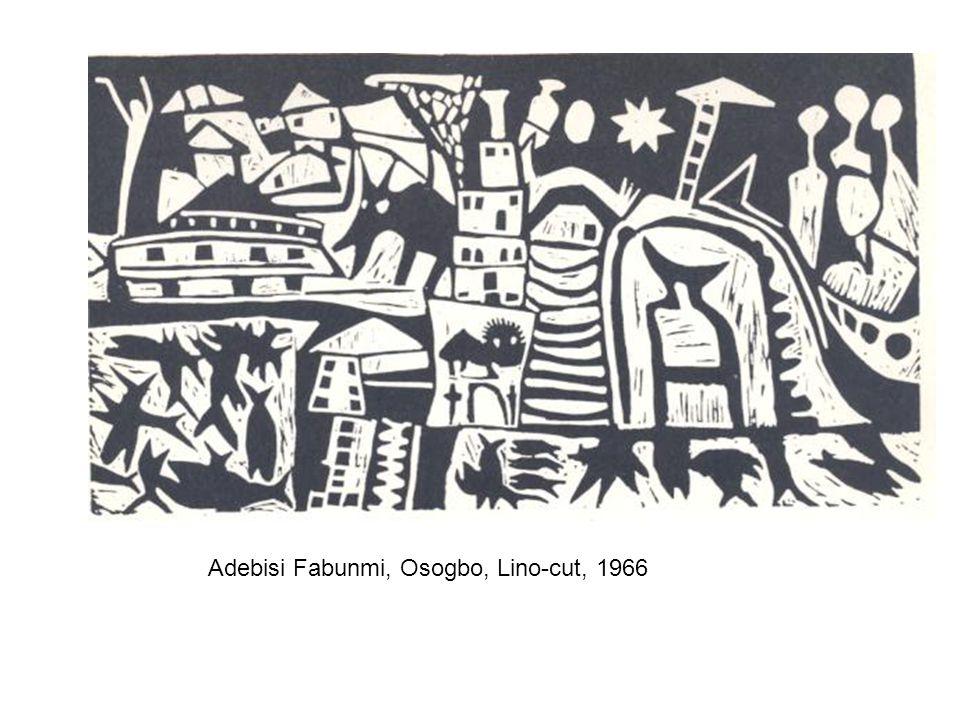 Adebisi Fabunmi, Osogbo, Lino-cut, 1966