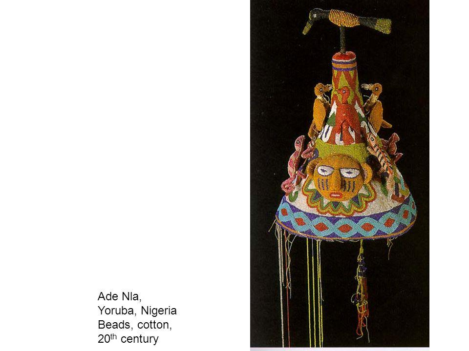 Ade Nla, Yoruba, Nigeria Beads, cotton, 20 th century