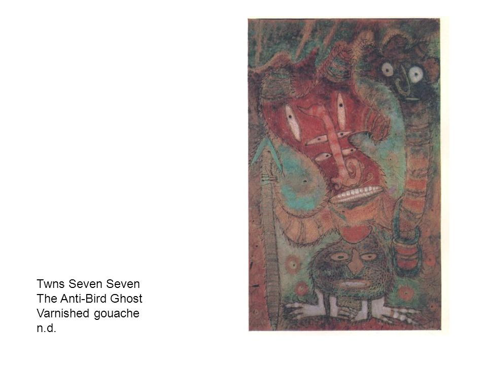 Twns Seven Seven The Anti-Bird Ghost Varnished gouache n.d.