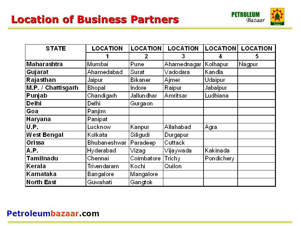 Petroleumbazaar.com Location of Business Partners