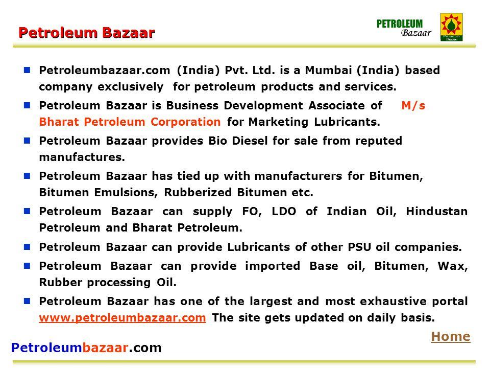 Petroleumbazaar.com Petroleum Bazaar Petroleumbazaar.com (India) Pvt.