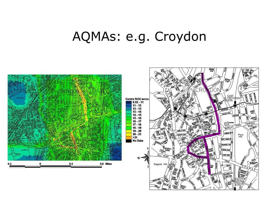 AQMAs: e.g. Croydon