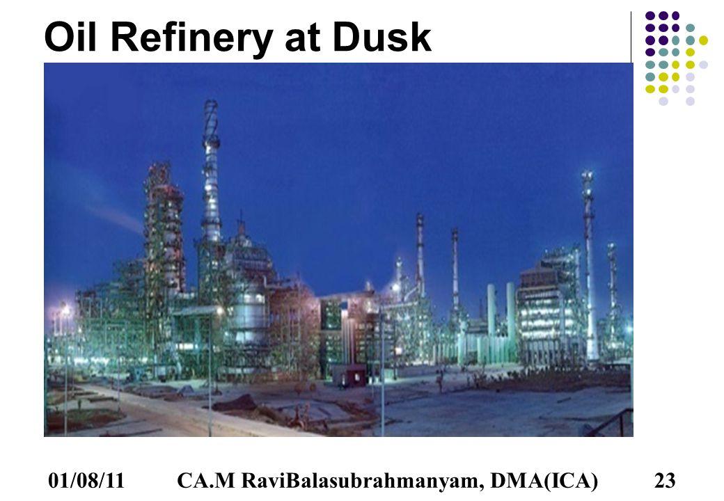 01/08/1123 Oil Refinery at Dusk CA.M RaviBalasubrahmanyam, DMA(ICA)