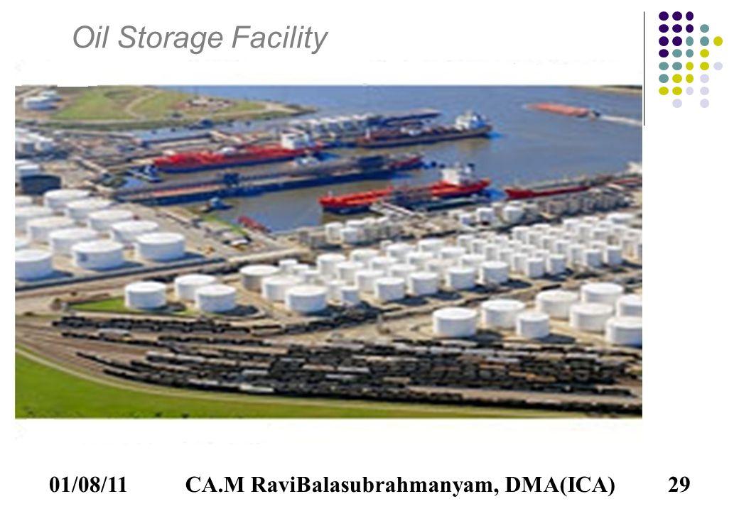 01/08/11CA.M RaviBalasubrahmanyam, DMA(ICA)29 Oil Storage Facility