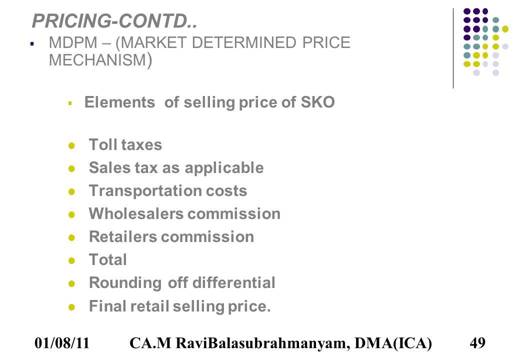 01/08/1149 PRICING-CONTD..