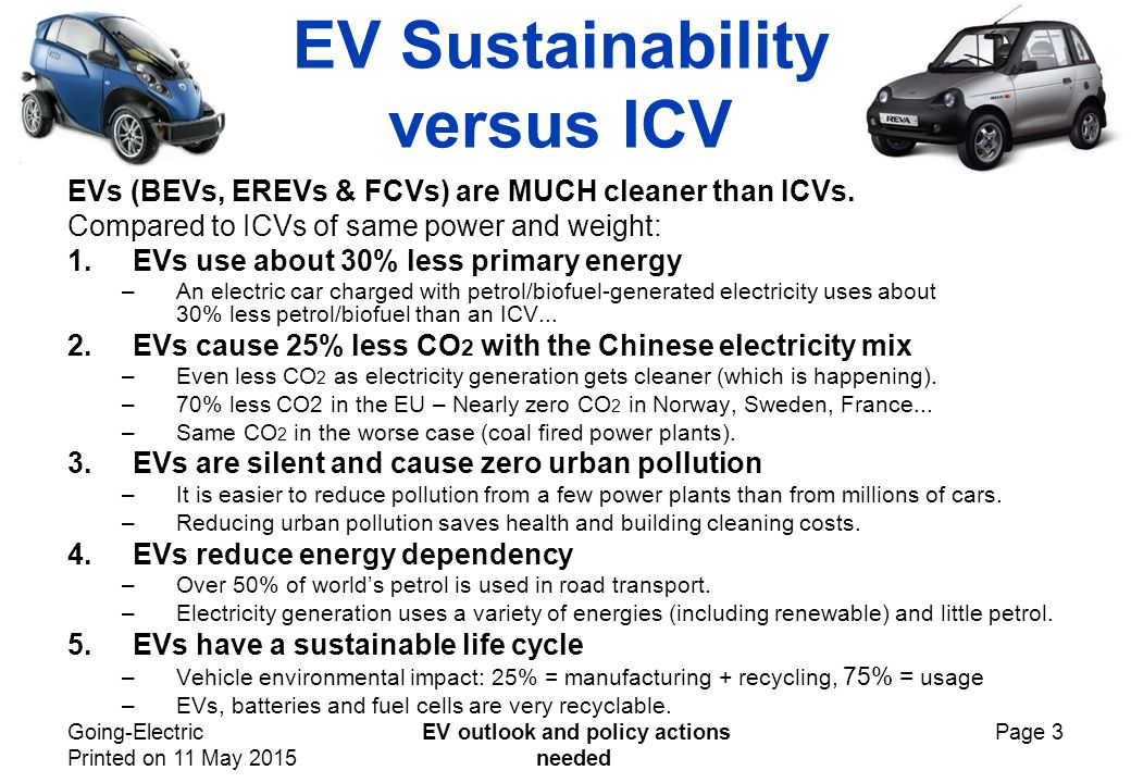 Going-Electric Printed on 11 May 2015 EV outlook and policy actions needed Page 4 Micro-BEVs are the urban future.
