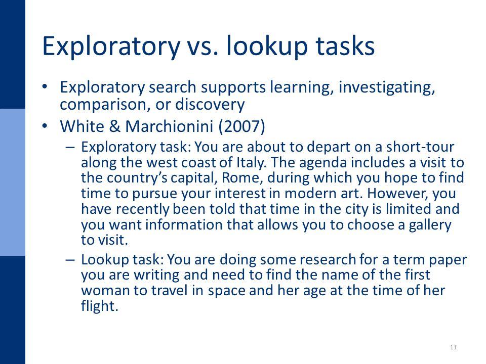 Exploratory vs.