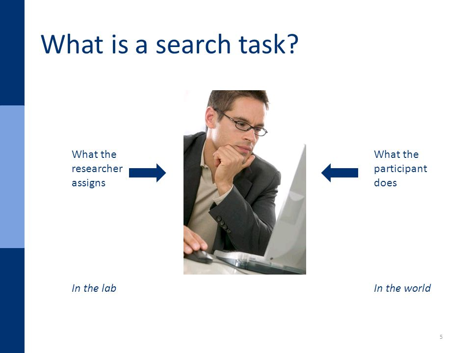 What is a search task.