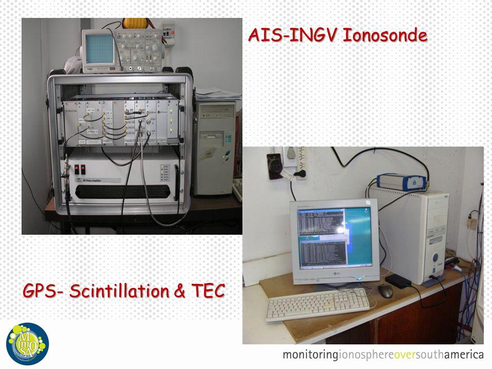 AIS-INGV Ionosonde GPS- Scintillation & TEC