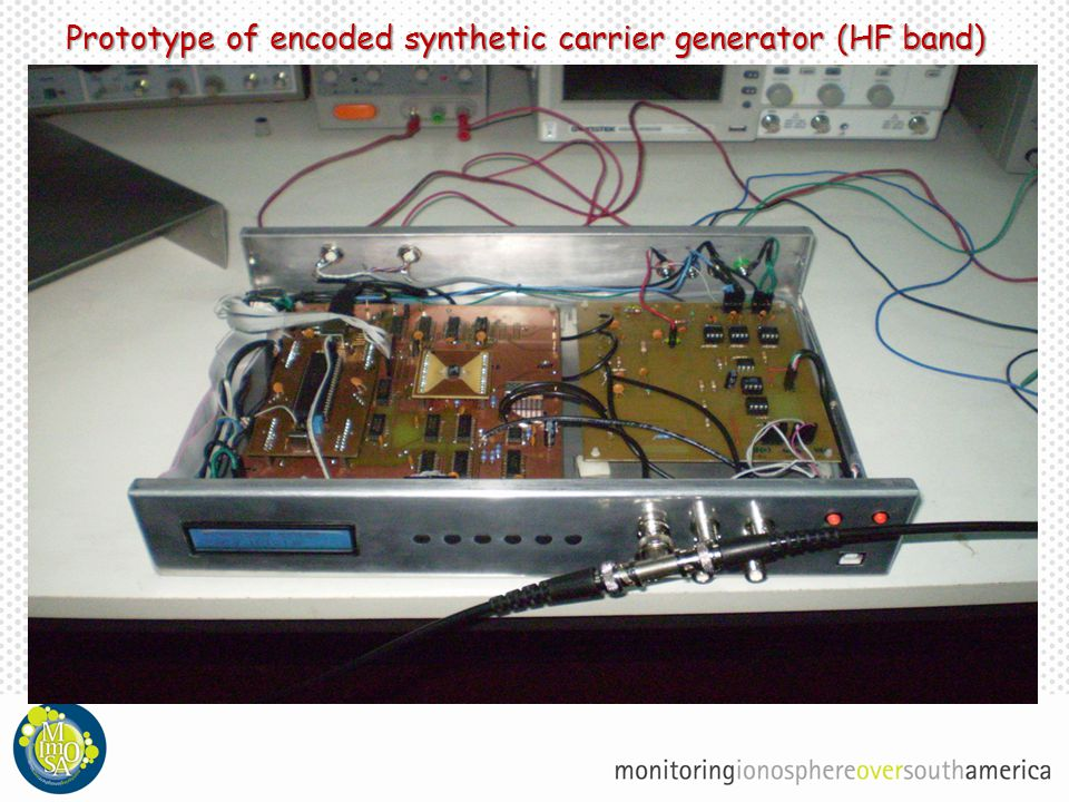 Prototype of encoded synthetic carrier generator (HF band)