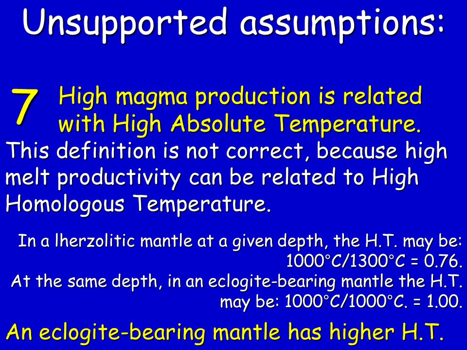 This definition is not correct, because high melt productivity can be related to High Homologous Temperature.