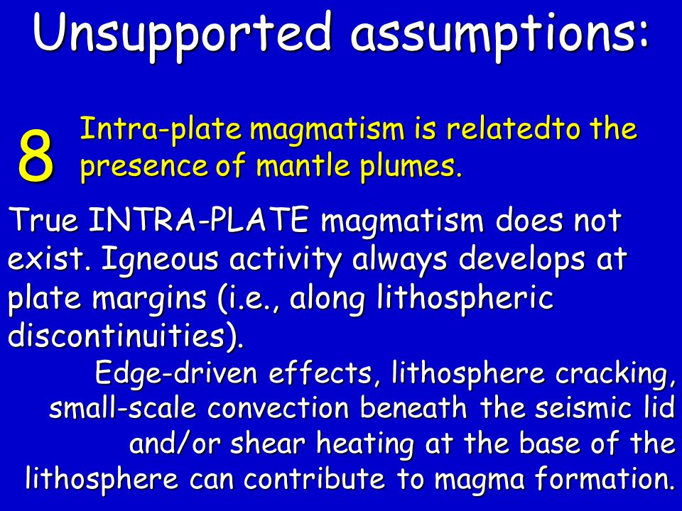 True INTRA-PLATE magmatism does not exist.