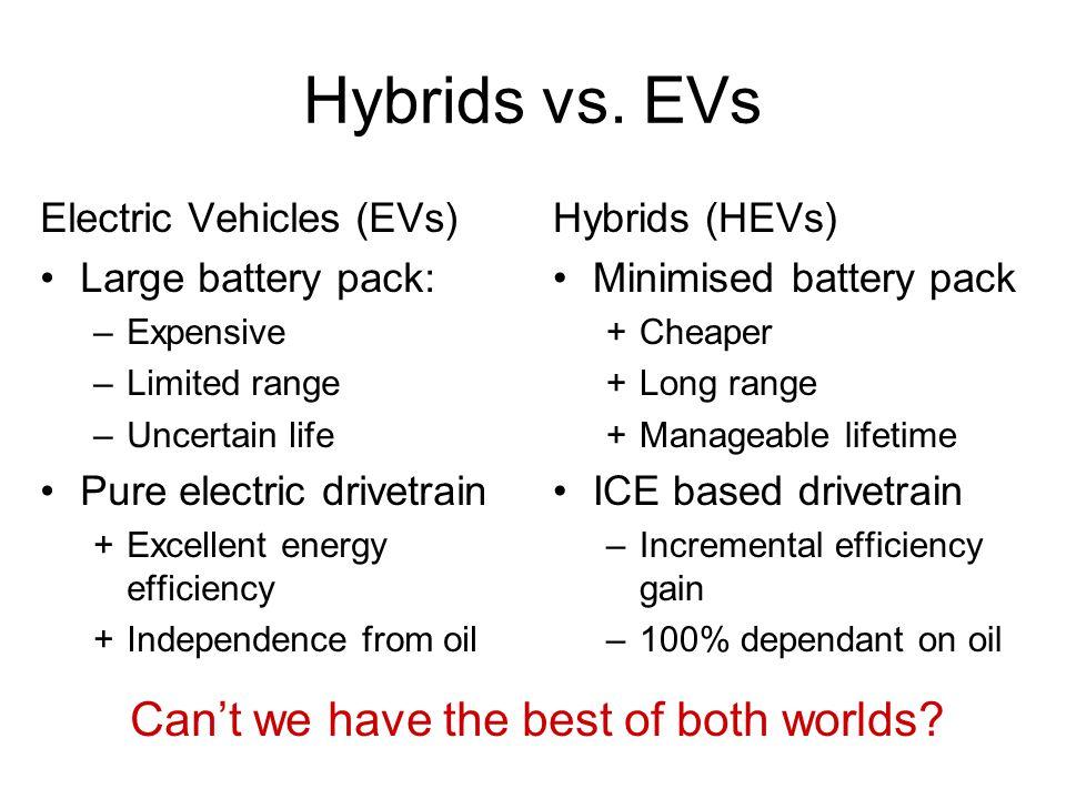 Hybrids vs.