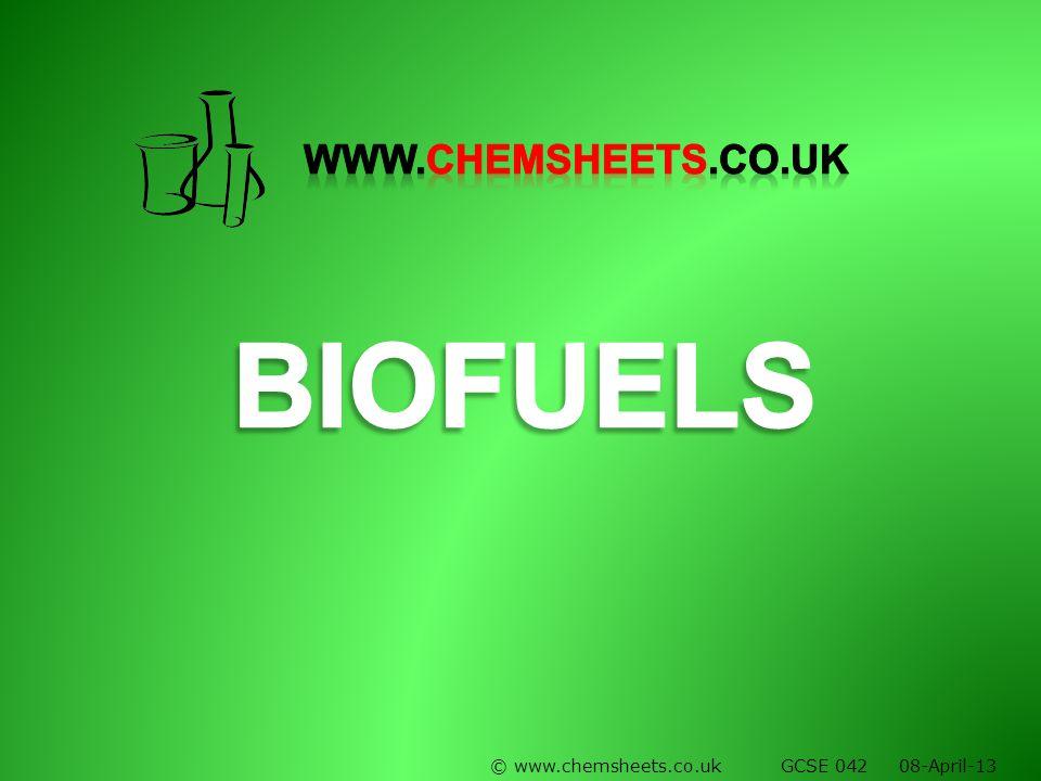© www.chemsheets.co.uk GCSE 042 08-April-13