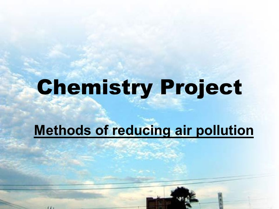 Methods of reducing air pollution of motor cars