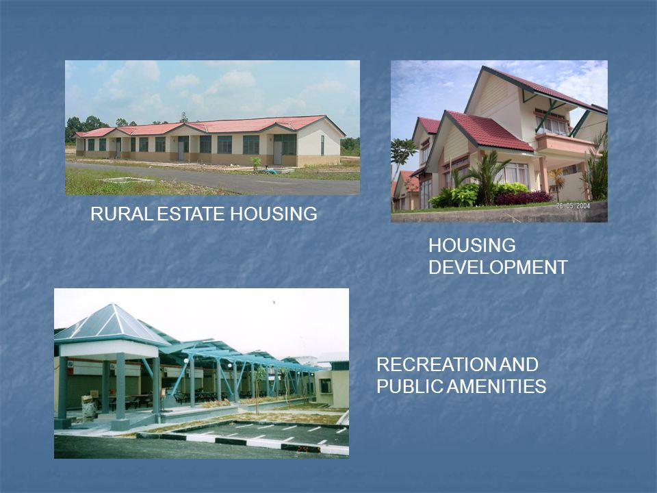 HOUSING DEVELOPMENT RECREATION AND PUBLIC AMENITIES RURAL ESTATE HOUSING